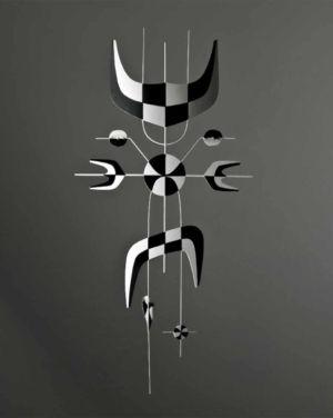 Arlequin - 2010 - Alliage zinc - 44 x 21cm