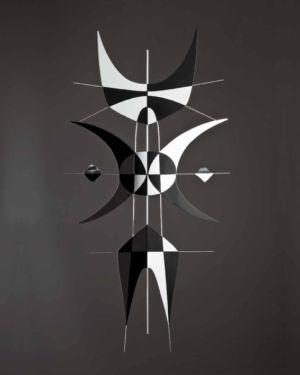 Le chat sur le mur - 2006 - Aluminium - 100 x 49cm